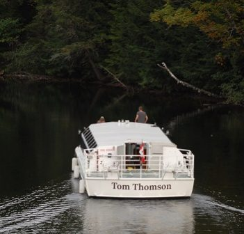 The Tom Thomson nears Fairy Lake via the canal