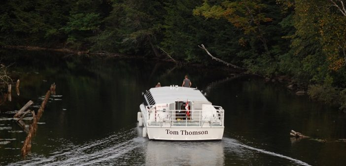 The Tom Thomson nears Fairy Lake via the canal