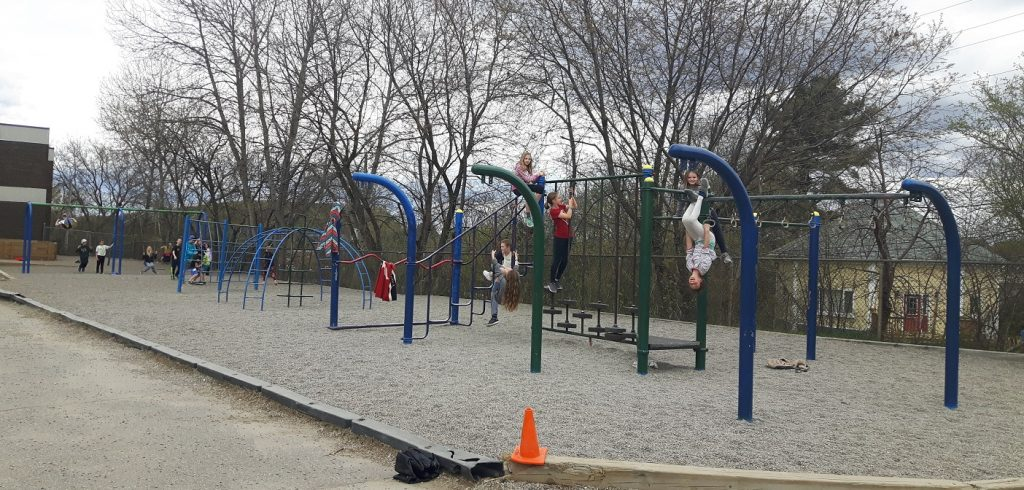 The old HPS playground wasn't suitable for students in wheelchairs or with reduced mobility (Photo: Amy Dore)