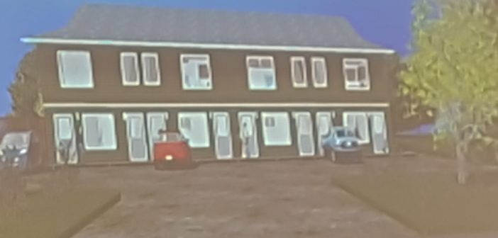 Rendering of the building proposed at 8 and 10 Hilltop Drive as presented at the September planning committee meeting.