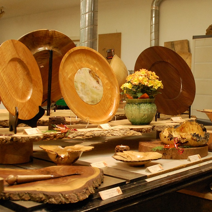 Brian Markham hand-crafts wooden bowls, platters and live-edge burl furniture