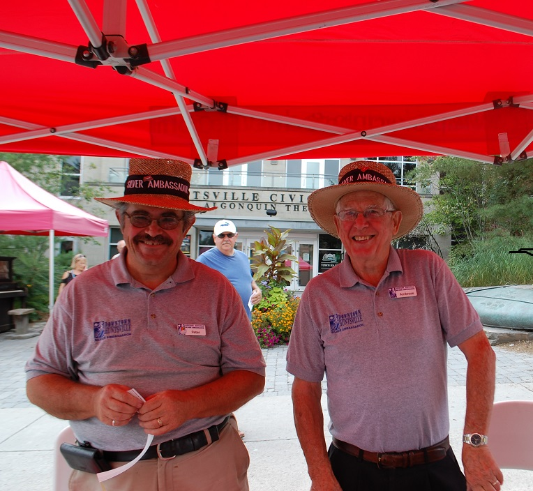 Peter Redwood (left) and Ambrose Adams were just two of the smiling faces selling sample tickets