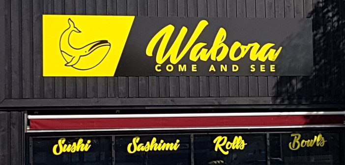 The sign on the new Wabora Come and See restaurant will be changed soon due to a trademark issue
