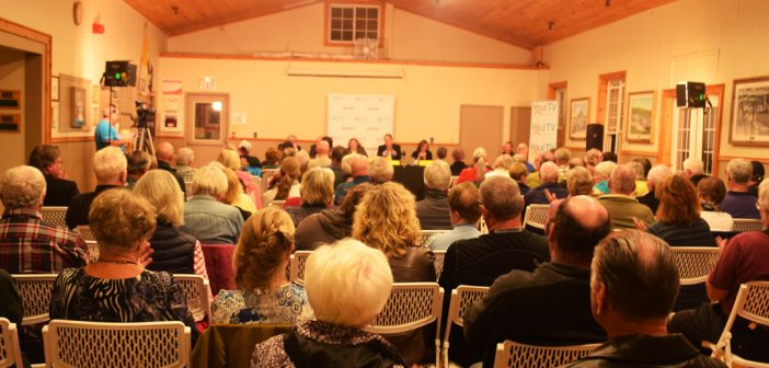 The Port Sydney Hall was full on September 27 as candidates running in the upcoming October 22 municipal election fielded questions from the community.