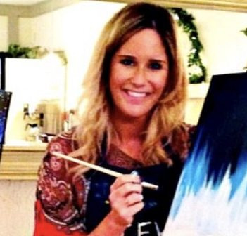 Art teacher Aimee Bulloch is leading a paint night in support of the Huntsville Hospital Foundation (supplied)