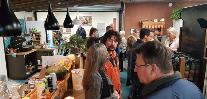 Guests enjoy some good food and conversation at the inauguration of Muskoka North Good Food Co-op on Tuesday, October 23.