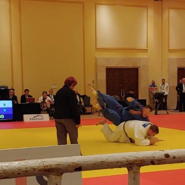 Jeff Allen narrowly misses out on bronze medal at IJF