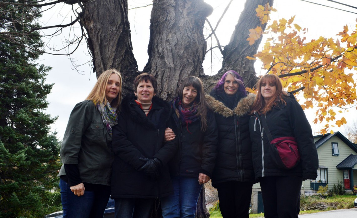 (From left) Nita Clements, Kim Riley, Gayla Bowes, Denise Mitchell and Sue Hayes make up Paranormal Muskoka. Their paths were meant to cross and they have become like sisters.