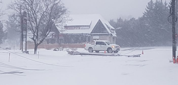 First major winter storm knocks out power to thousands