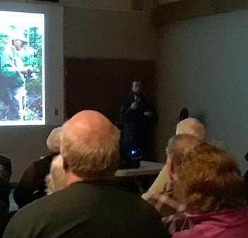 Alex Sutton talks Canada Jays with the Huntsville Nature Club