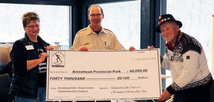 Ski community donates $40,000 to new Arrowhead Visitor Centre in tribute to former Huntsville Ski Club