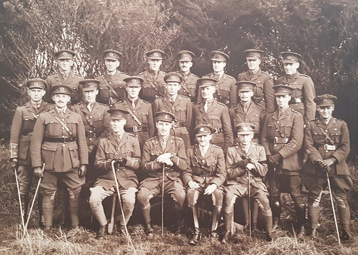 Arthur Scott Winchester, back row, centre, likely with the men he trained with