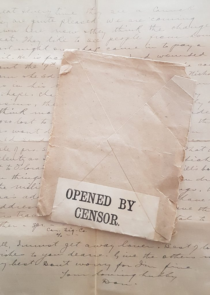 Letters were often opened and read by censors before continuing to their destination