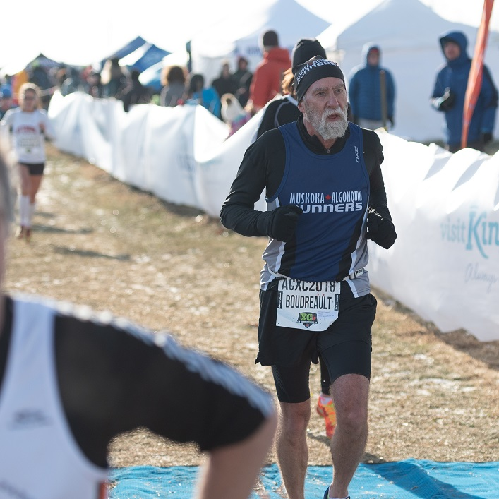 Andre Boudreault crosses the finish line (Photo Peter Stokes)