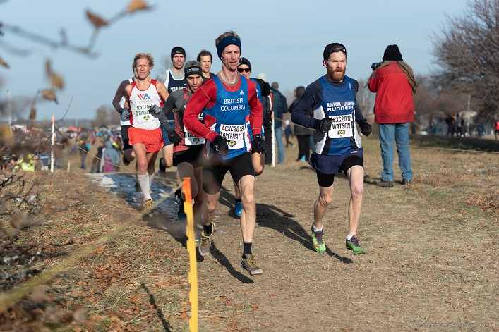 Chris Watson (right) on his way to a third place M40-44 finish (Photo Peter Stokes)