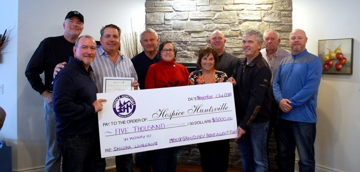 The Men of Grandview Benevolent Fund donated $5,000 each to Hospice Huntsville, Community Living Huntsville and Chrysalis