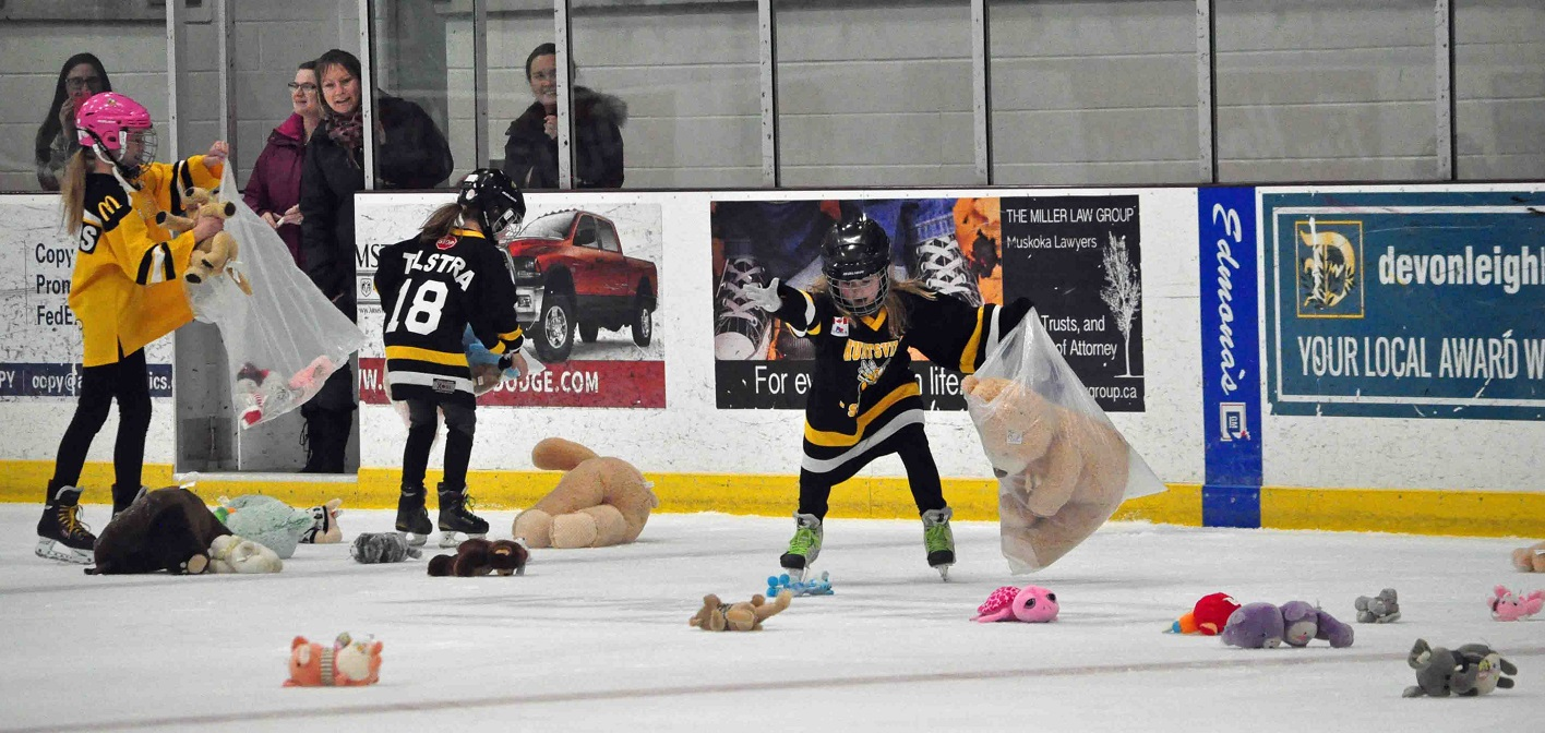 Annual Junior C Otters Teddy Bear Toss another holiday spirit-filled