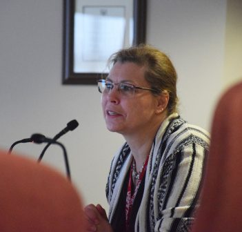 Project Manager for Sabrina Park Drive development, Teresa Oliver, updates planning committee about the initiative at its November 28 meeting.