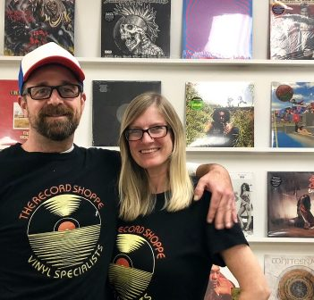Trevor Marshall (left) and Cara Henry at The Record Shoppe