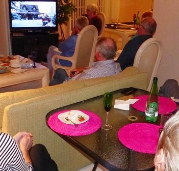 Among those watching the world premiere of A Veteran's Christmas were these Canadians on Hilton Head Island in South Carolina (Photo: Rob Hurst)