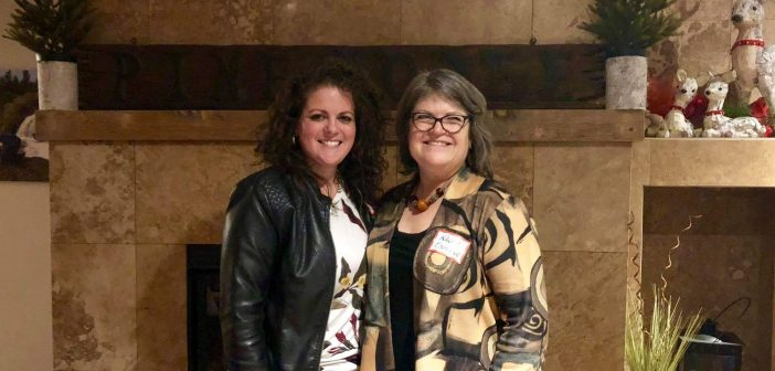 Nancy Osborne (right), Director of Women for the Parry Sound-Muskoka riding association with Trisha Cowie