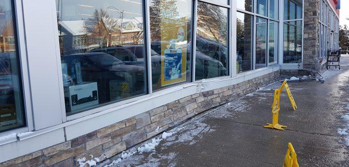 Car strikes front of Shoppers Drug Mart