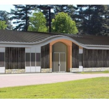 A rendering of the proposed extension at Dwight Public Library (supplied)