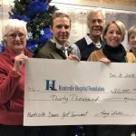 Huntsville Downs presents a $30,000 cheque to the Huntsville Hospital Foundation