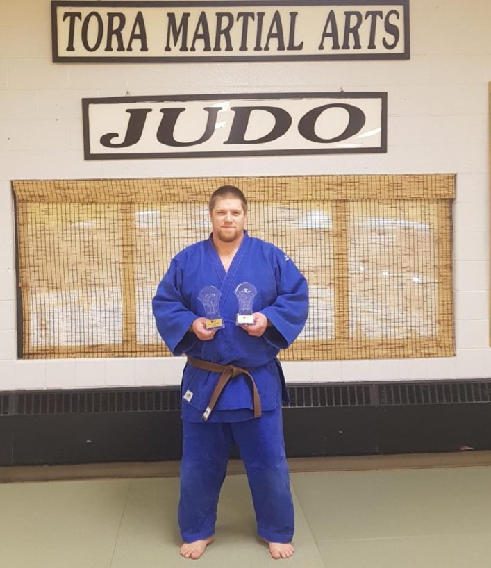 Jeff Allen won two gold medals at the Judo Ontario Ne-Waza Shiai tournament in early December 2018