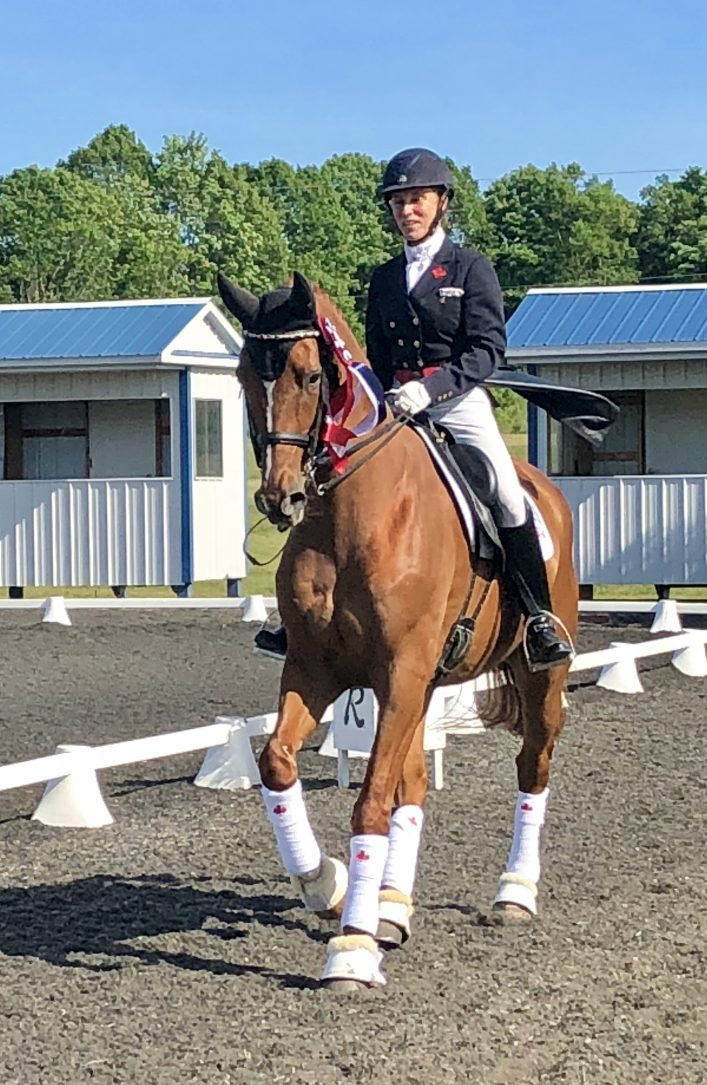 Lori Bell and Flirt at the Cedar Valley CDI (Competition Dressage International) in Newmarket where he won all his classes (supplied)