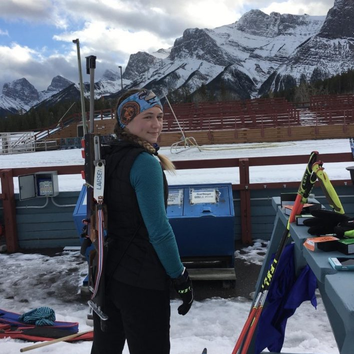 Natasia Varieur at training camp in Canmore