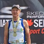 Don McCormick at the 2018 Bracebridge triathlon (supplied)