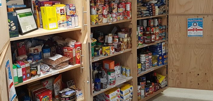 The shelves at the Dwight Winter Pantry are stocked thanks to generous community members