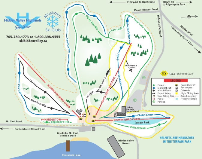 The new Fun Run at Hidden Valley Highlands Ski Area starts at the top of the Red Quad and joins the Dipsy Doodle not far from the base of the hill