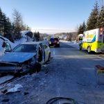 Hwy 11 crash on Jan 17 2019 @OPP_COMM_CR / Twitter