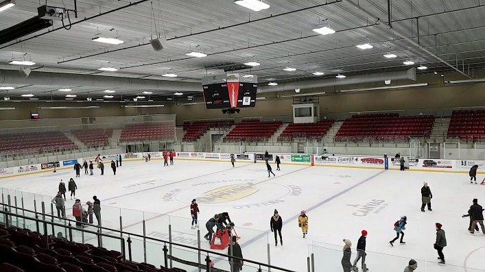 The Town of Huntsville hosted a free family skate at the Don Lough Arena on New Year's Eve
