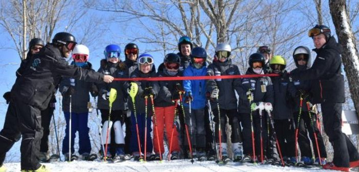 Kids get ready to try the new Fun Run at Hidden Valley Highlands Ski Area for the first time (supplied)