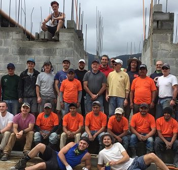 The Gen 2 team with Guatemalan workers at the Nebaj hospital site (supplied)