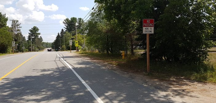 Muskoka Road 3 North (pictured here near Spruce Glen PS) lacks a proper sidewalk (file photo)