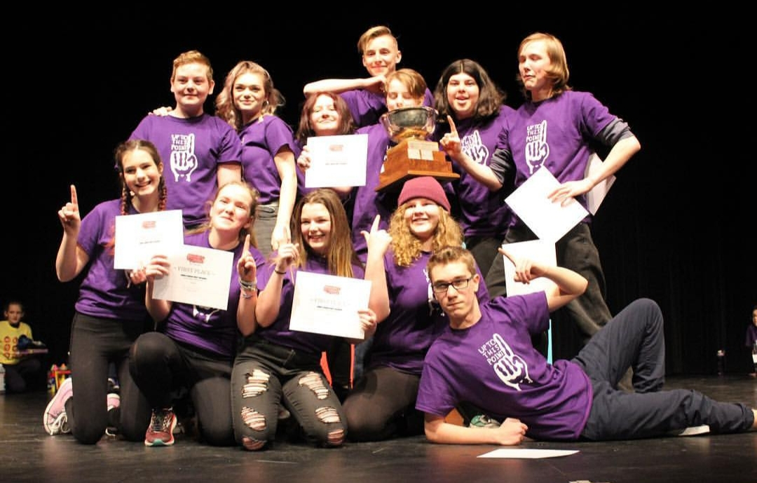 HHS Up To This Point took the junior title at the Canadian Improv Games Sudbury Regionals (@cigsudbury/Instagram)