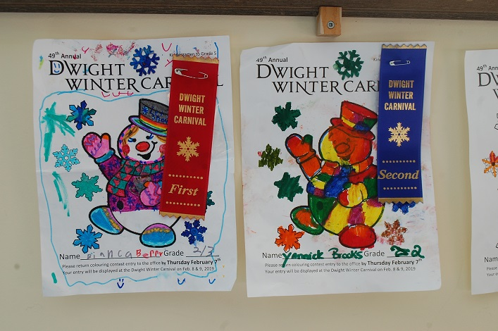The colouring contest for grades K-5 garnered some joyful entries