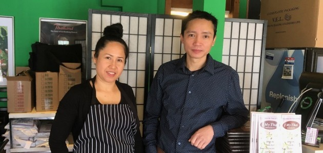 I My Thai server and chef Mariam Phengphan (left) and owner/chef Seng Soukhaserm