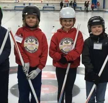 Little Rocks curlers (from left) Max Dzierla, Alistair McMannon, Addison Watson, and Noah Lockheart