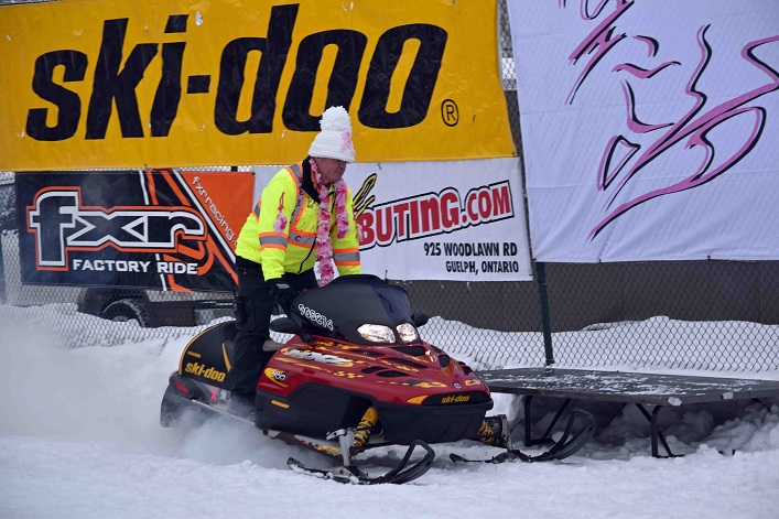 Kelly's sled was brought to the event for its 20th anniversary
