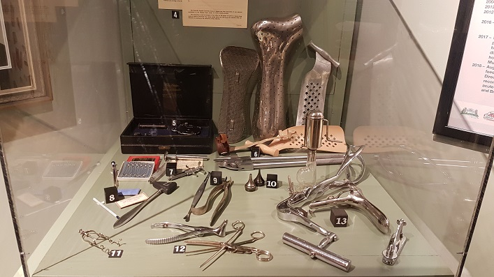 Medical tools from the Muskoka Heritage Place collection