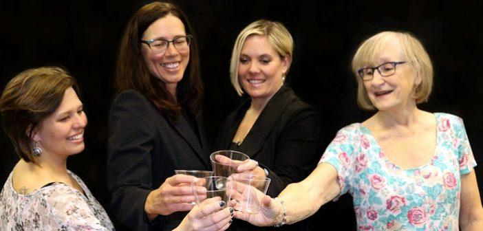 The HTC cast of the Savannah Sipping Society (from left) Kyla Taylor, Jenn Creasor, Aussa Penniall and Pru Donaldson. (Photo: Linda Scott)