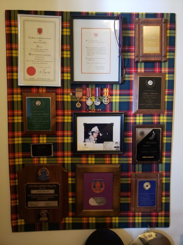 Some of John Gibson's many award and accolades