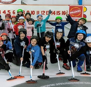 Students in the Huntsville Curling Club elementary program had a great time at their mini-bonspiel (supplied)