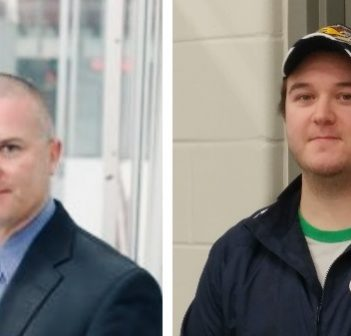 Marc Gagnon (left) is the new Otters head coach; Britten Coffin returns to the organization this year as general manager (supplied)
