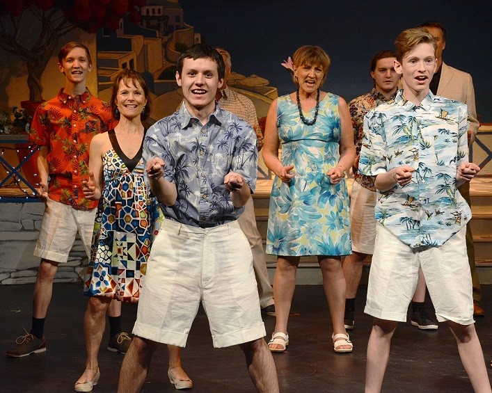 Mamma Mia! chorus members (from left) Harper Smith, Jennifer MacMillan, Ryan Long, Julie Wallace and Jacob Hunter (supplied)